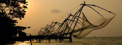 Chinese fishing nets Fort Kochin India