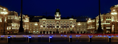 Trieste Italy at night
